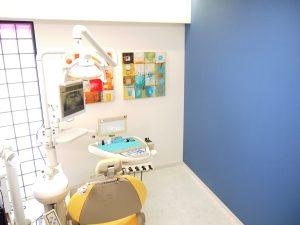 練馬区武蔵関、みたに歯科医院の広々とした診察台