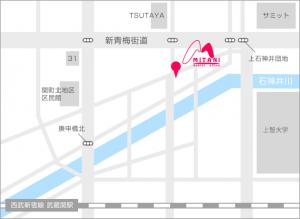 武蔵関駅からの地図、みたに歯科医院