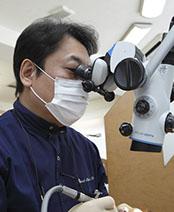 練馬区武蔵関、みたに歯科医院の精密歯内療法、マイクロスコープ